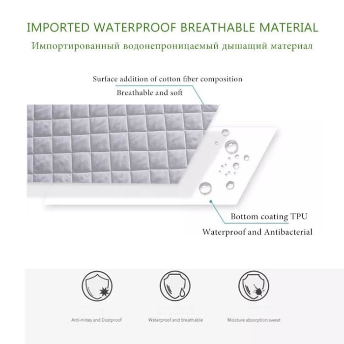 Pad Cover Super Soft Breathable Absorbent - Mattress Cover & Gripper