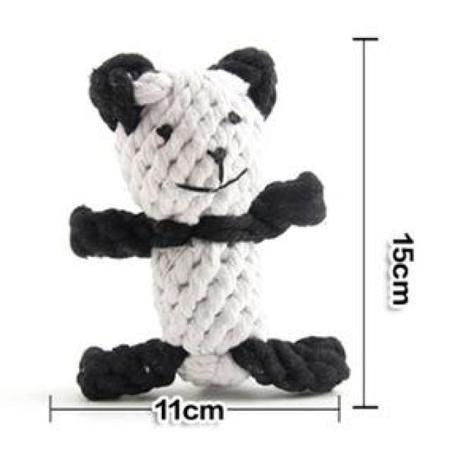 Panda Toy Hand-woven For Dog - Dog Toy