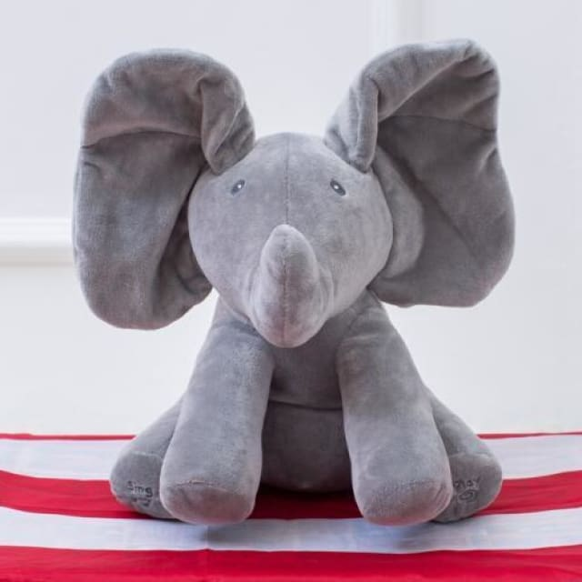 Peekaboo Peggy Elephant Toy - Gray