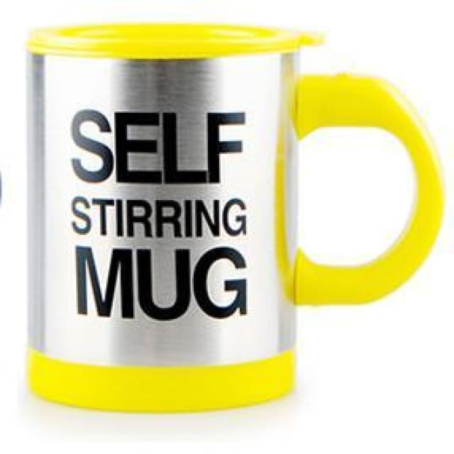 Perfect Self Stirring Mug - Yellow