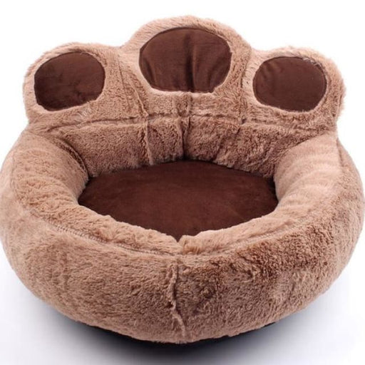 Pet Bed Sofa Soft Cotton For Dog / Cat - Paw Shape - Brown / 56x52cm - Pet Bed Sofa