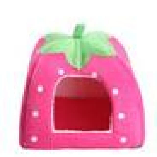 Pet House Dog Cats - Foldable Red/Purple/Blue/Pink - pink / 26x26cm - Pet House