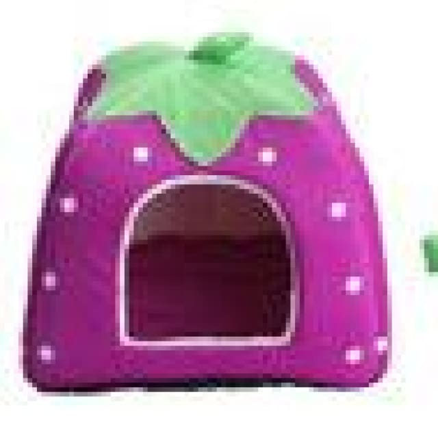 Pet House Dog Cats - Foldable Red/Purple/Blue/Pink - purple / 26x26cm - Pet House
