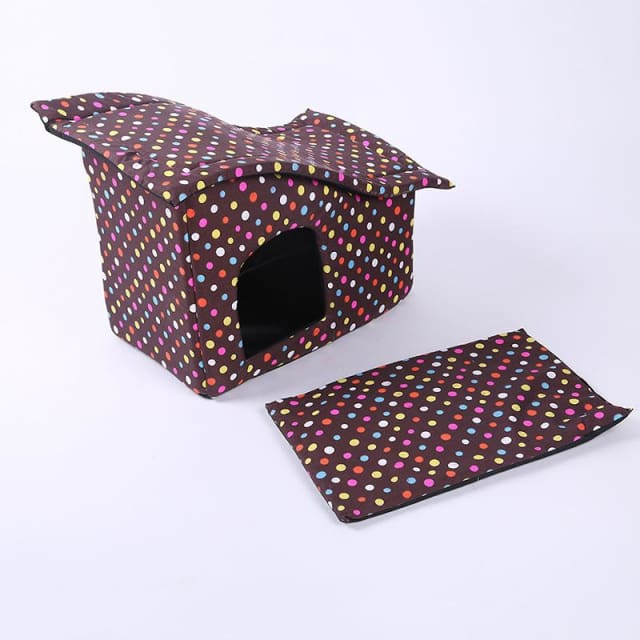Pet House with Cotton Folding Bed For Large Dog - Pet House