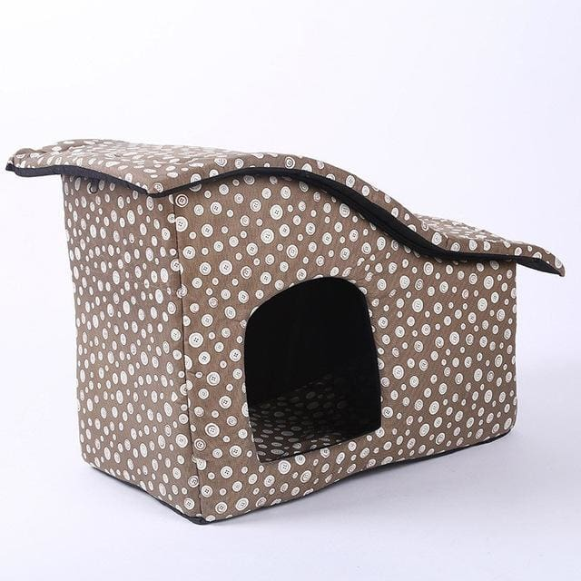 Pet House with Cotton Folding Bed For Large Dog - Gray / M 55x35x40cm / China - Pet House