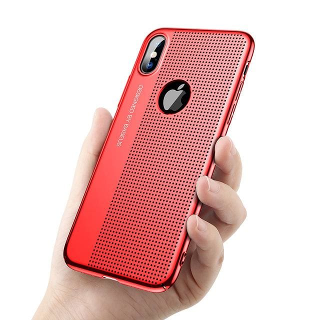 Phone Bag Case For Apple iPhone X 10 Shell - Red - Fitted Cases
