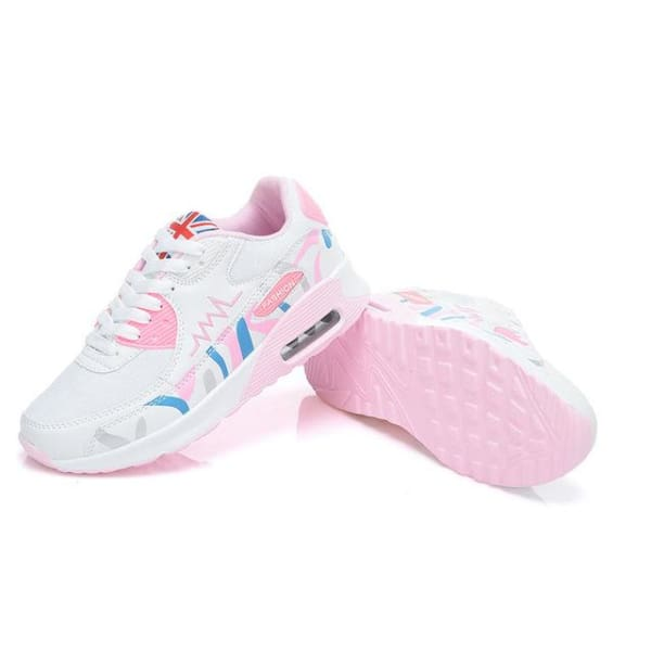 PINSV Fashion Women Running Shoes - bai fen hong / 5 - Running Shoes