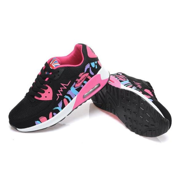 PINSV Fashion Women Running Shoes - hei mei hong / 5 - Running Shoes