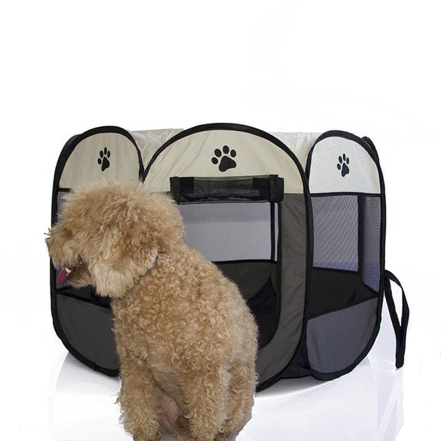 Portable Tent For Pet /Dog /Puppy /Cat - Gray / 90X90X58CM - Portable tent