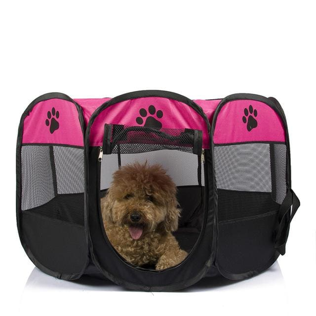 Portable Tent For Pet /Dog /Puppy /Cat - Pink / 90X90X58CM - Portable tent