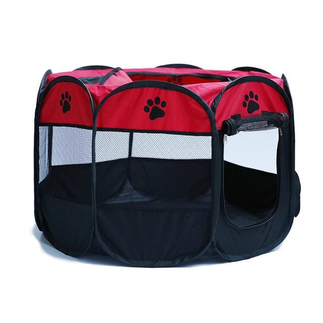 Portable Tent For Pet /Dog /Puppy /Cat - Red / 90X90X58CM - Portable tent