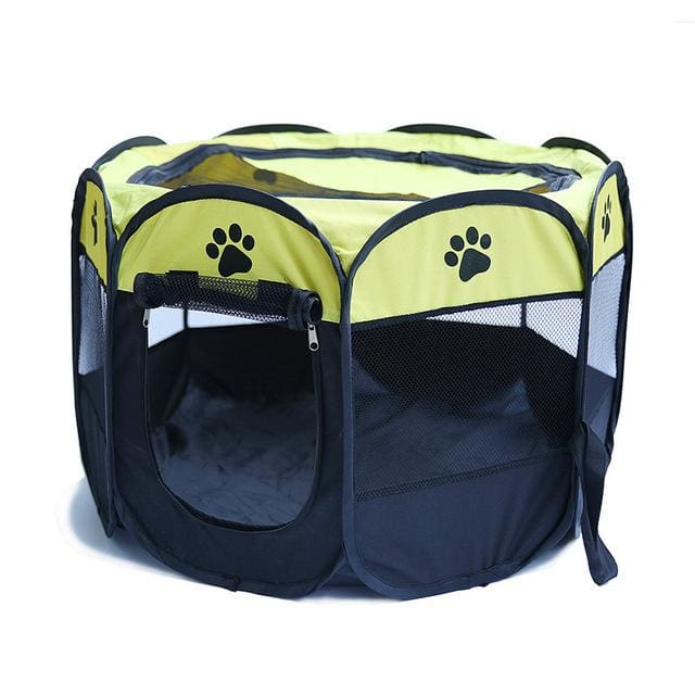 Portable Tent For Pet /Dog /Puppy /Cat - Yellow / 90X90X58CM - Portable tent