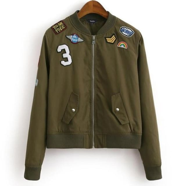 pretty jacket for womens long sleeve - ArmyGreen / L / China - Jackets