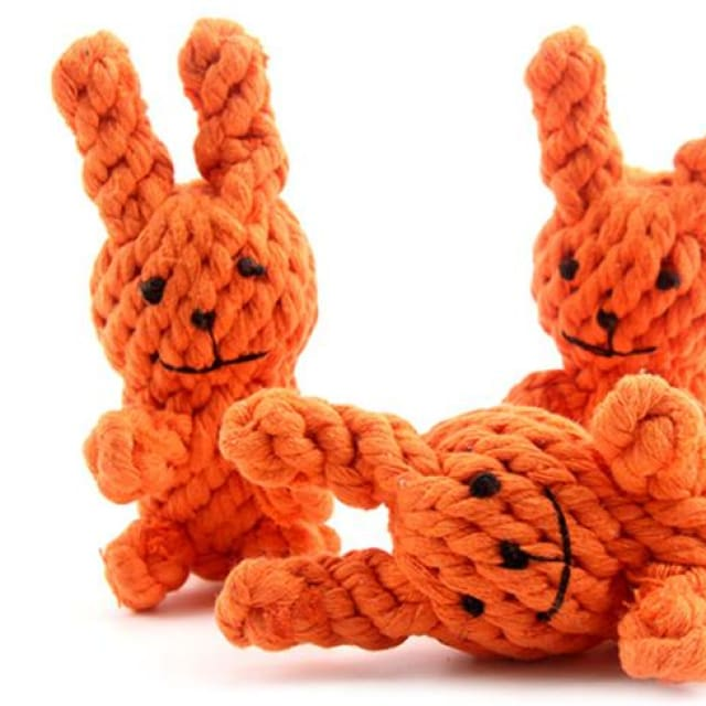 Rabiit Toy Hand Woven For Dog - 3pcs - Toy Dog