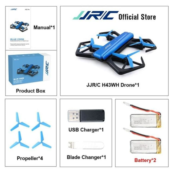 RC Quadcopter Drone Mini - WIFI FPV With HD Camera - With 2 Battery - Quadcopter