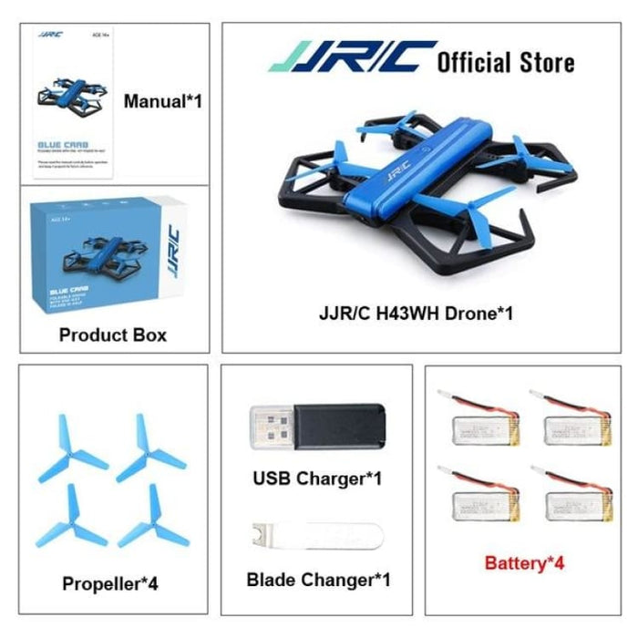 RC Quadcopter Drone Mini - WIFI FPV With HD Camera - With 4 Battery - Quadcopter