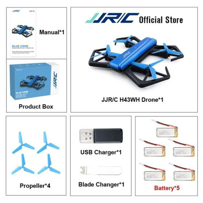 RC Quadcopter Drone Mini - WIFI FPV With HD Camera - With 5 Battery - Quadcopter