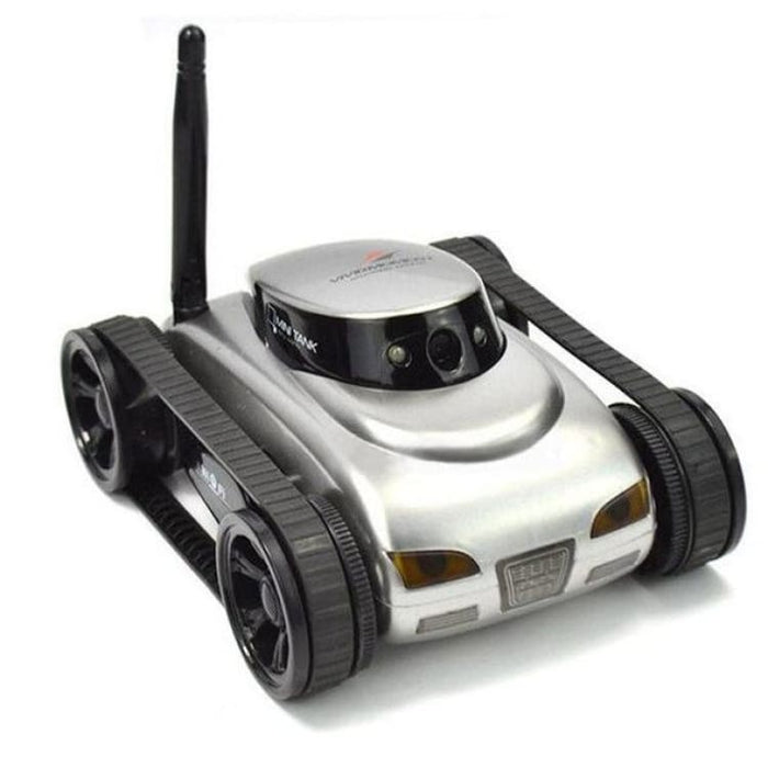 Remote Control Mini WiFi RC Car Camera Real-time Tank Kids Toy For Iphone IOS For Android Smart Phone - Silver - Ride On Car