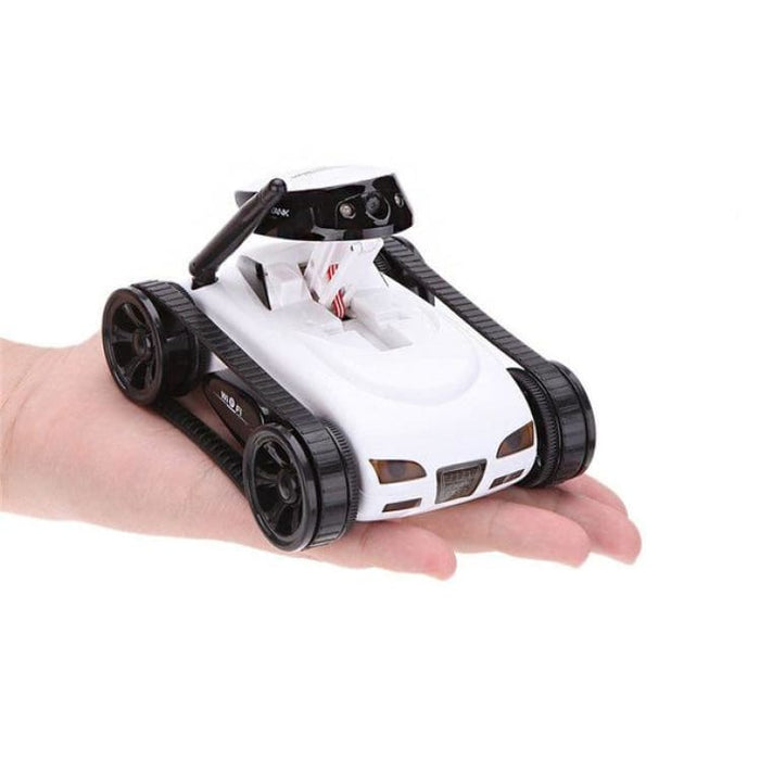 Remote Control Mini WiFi RC Car Camera Real-time Tank Kids Toy For Iphone IOS For Android Smart Phone - White - Ride On Car