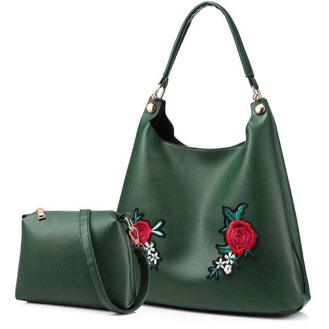 Retro Handbag & shoulder messenger bags for women 2018 - Green / China / (30cm<Max Length<50cm) - Shoulder & Crossbody Bags
