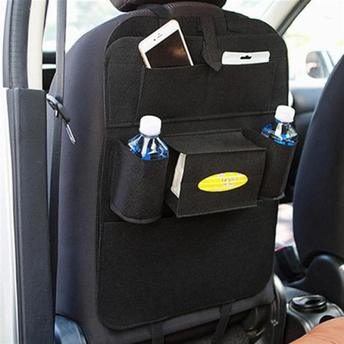 Seat Back Organizer with 6 Pocket - Black - Stowing Tidying