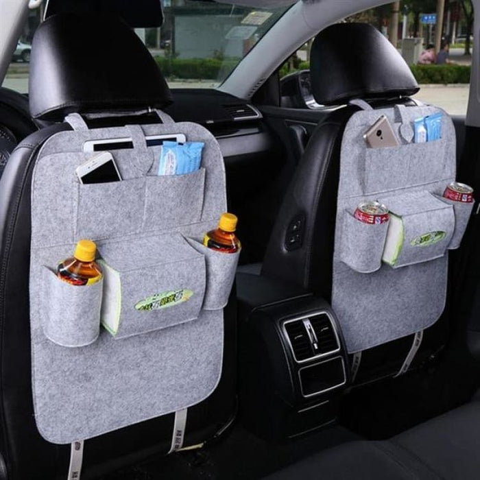 Seat Back Organizer with 6 Pocket - Gray - Stowing Tidying
