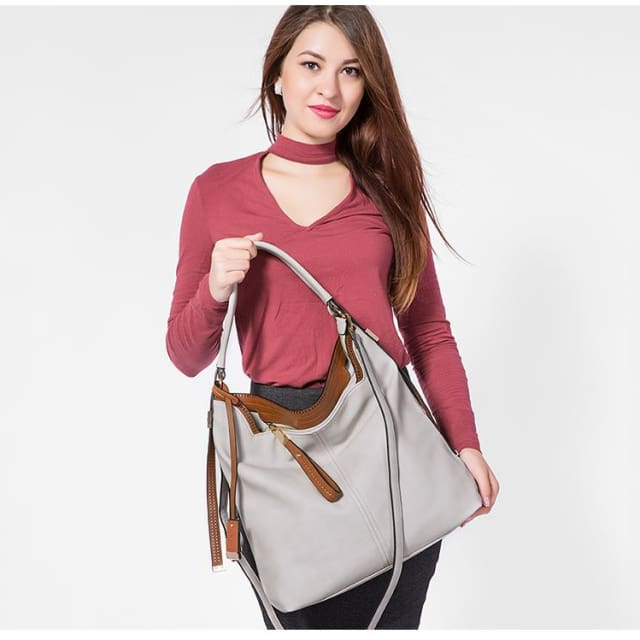 Shoulder bags for womens large capacity handbag female high quality artificial leather tote bag fashion 2018 - Shoulder & Handbags