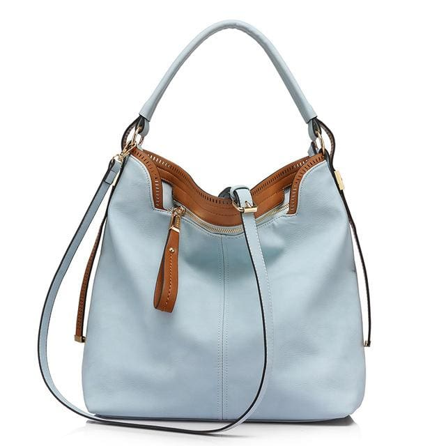 Shoulder bags for womens large capacity handbag female high quality artificial leather tote bag fashion 2018 - Light Blue / China /