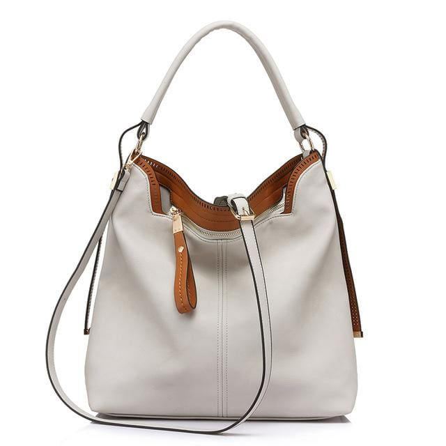 Shoulder bags for womens large capacity handbag female high quality artificial leather tote bag fashion 2018 - Light Gray / China /