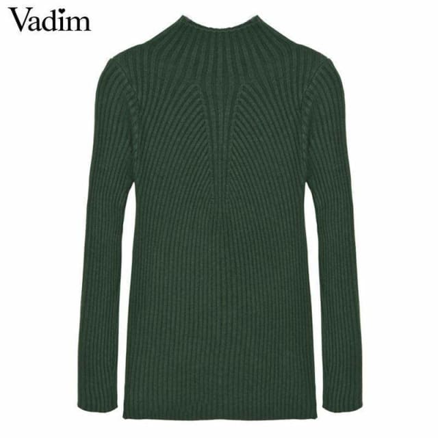 Simple sweater for womens Black/Green/Pink/Brown/Red - Pullovers