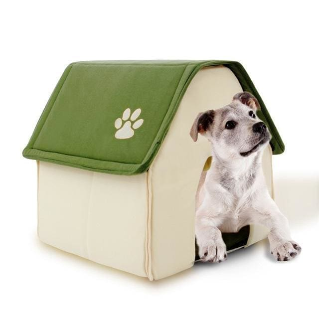Small House For Puppy / Dogs / Cat - Green / 42x44x45cm - House Cat & Dog