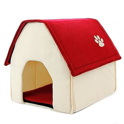 Small House For Puppy / Dogs / Cat - Red / 42x44x45cm - House Cat & Dog