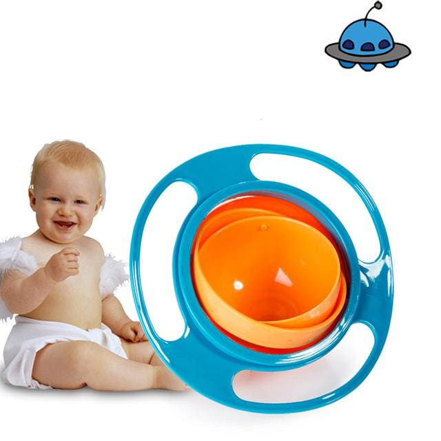 Spill Proof Baby Bowl - Blue