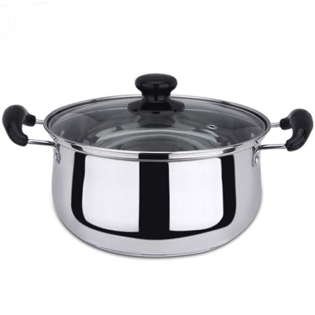 Stainless Steel Double Bottom Pot Soup Cooking Pot Multi-purpose Cookware Non-stick Pan - 18cm - Soup & Stock Pots