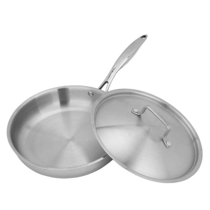 Stainless Steel Frying Pan Uncoated Non-Stick Skillet - Pan