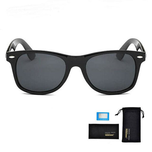 Sunglasses Men UV400 Polarized / Antireflet - Black and black - Sunglasses