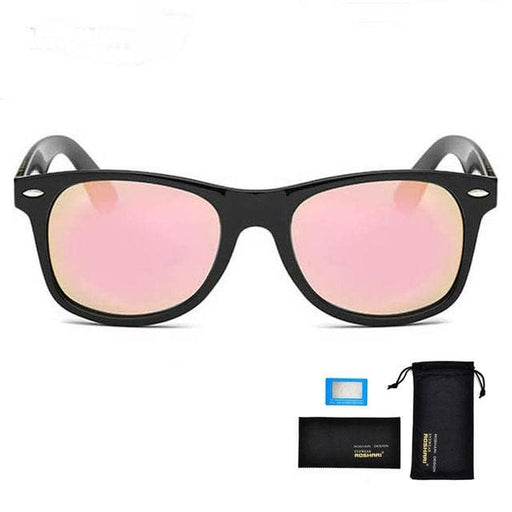 Sunglasses Men UV400 Polarized / Antireflet - Black and pink - Sunglasses
