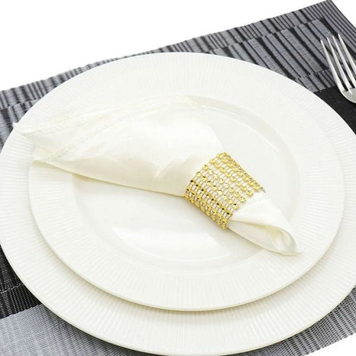 Table Napkins cloth Square Satin 50pcs 30cm - Ivory - Table Napkins