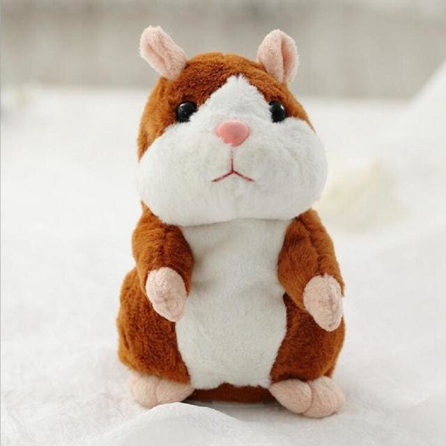 Talking Hamster Plush - Brown