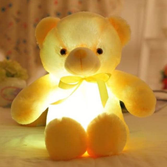 The Amazing LED Teddy - Yellow