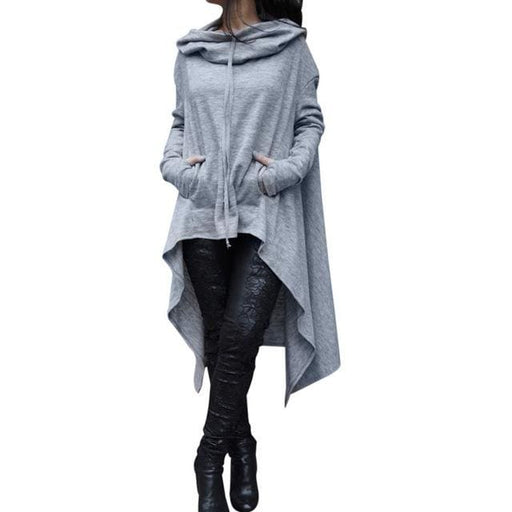 The Asymmetric Hoodie - Gray / XXL