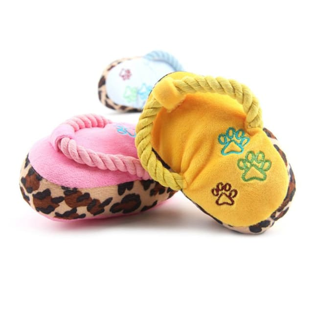 Toy Slippers - Interactive Plush For Dog & Cat - Dog & Cat Toy