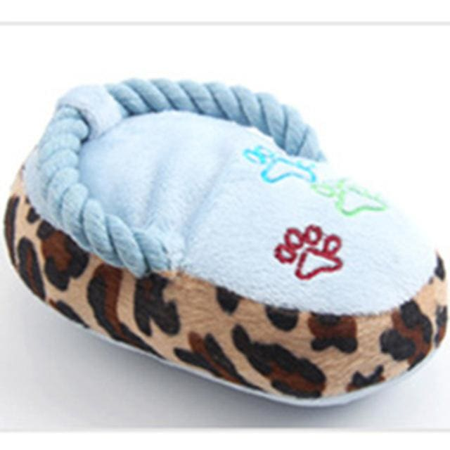 Toy Slippers - Interactive Plush For Dog & Cat - Blue / S - Dog & Cat Toy