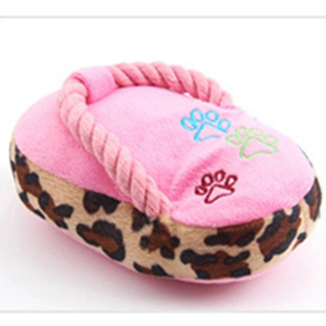 Toy Slippers - Interactive Plush For Dog & Cat - Pink / S - Dog & Cat Toy