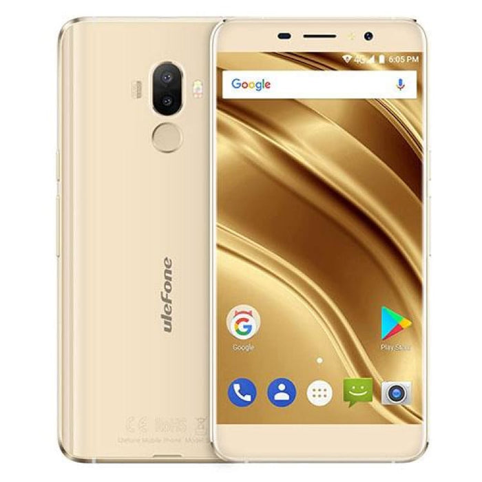 Ulefone S8 Pro 2GB/16GB Fingerprint Identification 5.3 Android 7.0 MTK6737 Quad Core 64-bit up to 1.3GHz OTG Network 4G FM - Gold - Mobile