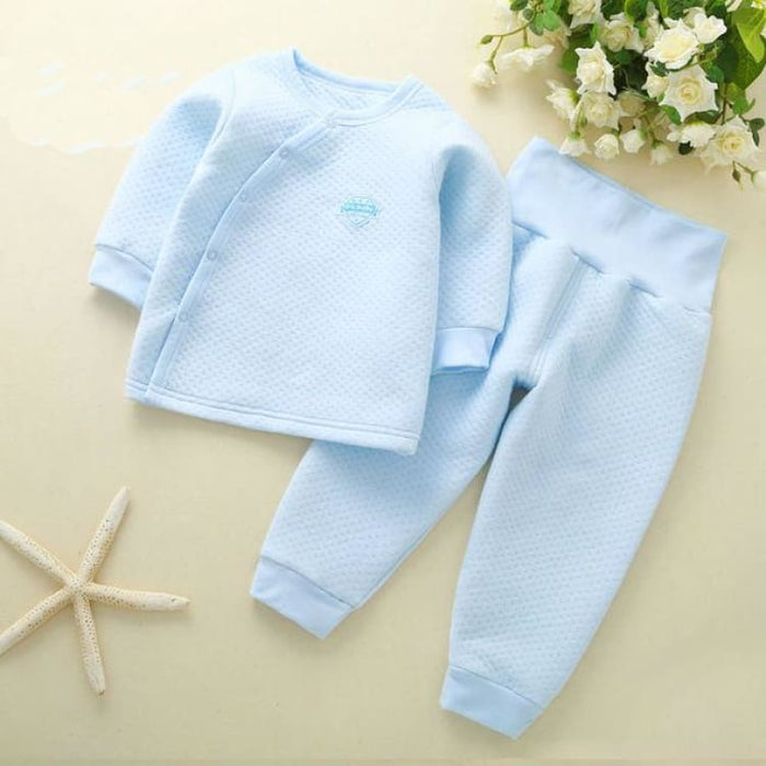 Unisex Baby Clothing Set - Cotton - btz1620 blue / 6M - Clothing Set