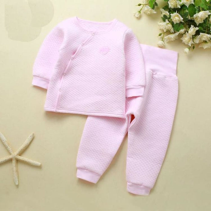 Unisex Baby Clothing Set - Cotton - btz1620 pink / 6M - Clothing Set