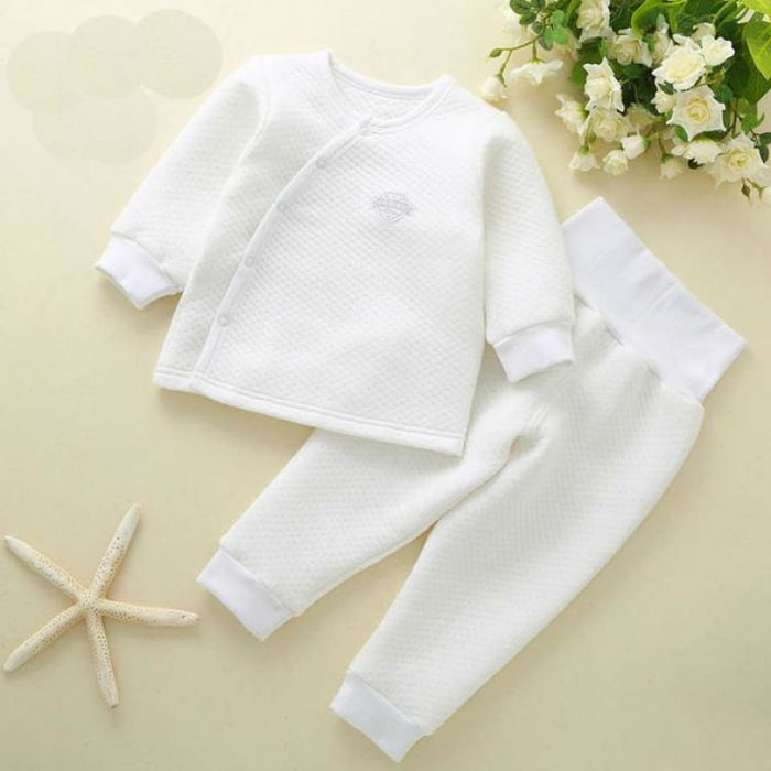 Unisex Baby Clothing Set - Cotton - btz1620 white / 6M - Clothing Set