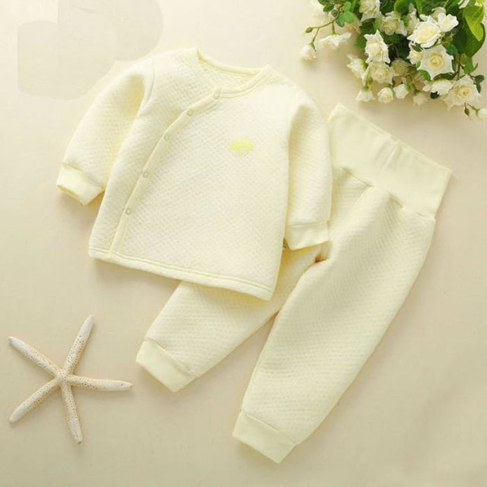 Unisex Baby Clothing Set - Cotton - btz1620 yellow / 6M - Clothing Set