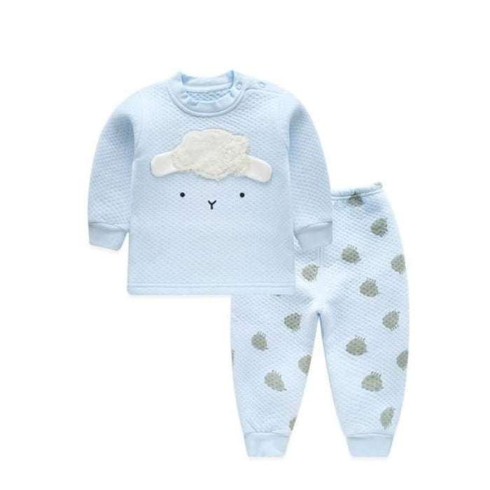 Unisex Baby Clothing Set - Cotton - BTZY02 blue / 6M - Clothing Set